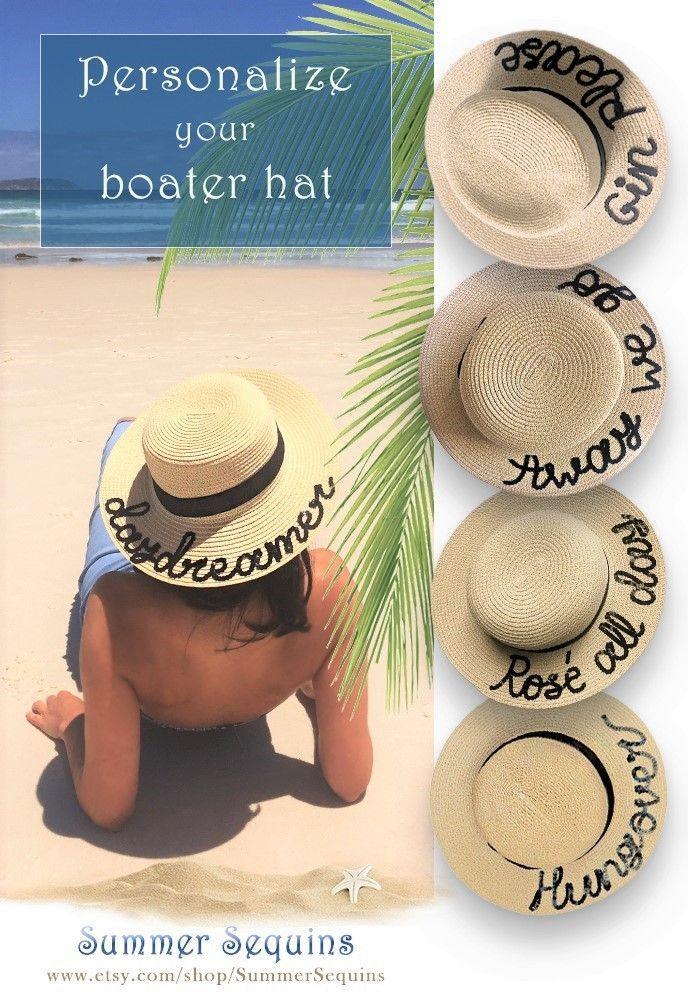 Custom Boater Hat  c33c4437245