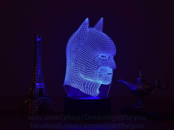 Batman 3d Night Lamp Will Be A Wonderful Gift For Fans Batman And Marvels Superheroes 3d Illusion Lamp Perfectly Performs The Functions Of B Batman Night