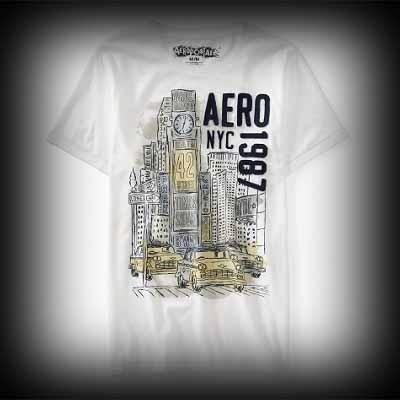 エアロポステール メンズ Tシャツ Aeropostale Aero NYC 1987 Graphic Tシャツ-アバクロ 通販 ショップ-【I.T.SHOP】 #ITShop
