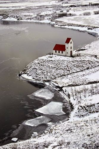 Cold but peaceful. This beautiful church is in Iceland