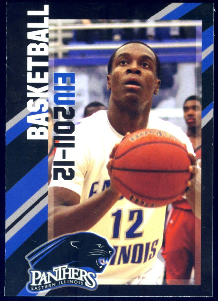 2011-12 EASTERN ILLINOIS PANTHERS BASKETBALL POCKET SCHEDULE  FREE SHIPPING #Schedule