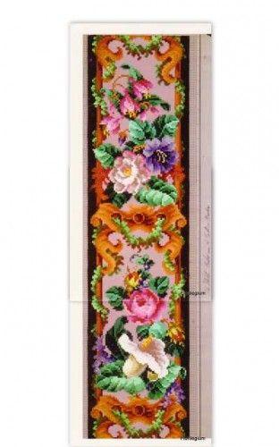 Berlin Woolwork Needlepoint Chart – Fuchsia