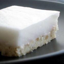 Hawaiian coconut pudding dessert served at traditional luaus