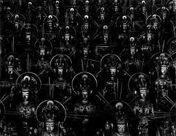 Sea of Buddha, by Sugimoto Hiroshi. The 1,001 statues of the Thousand-Armed Avalokiteshvara in the temple of Sanjusangendo (Kyoto).
