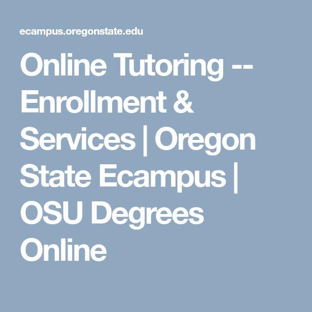Online Tutoring -- Enrollment & Services | Oregon State Ecampus | OSU Degrees Online