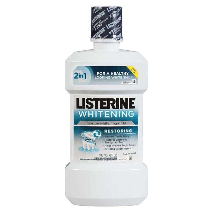 Listerine Whitening Restoring Fluoride Rinse - C... : Target