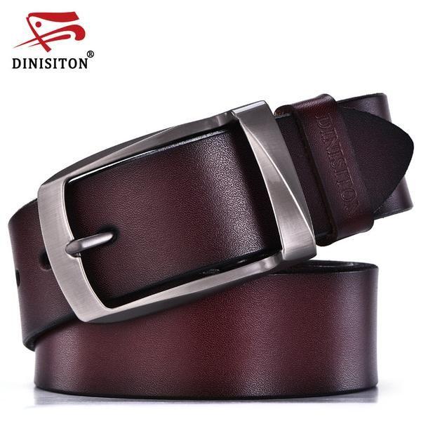 FuzWeb:DINISITON designer belts men high quality genuine leather belt man fashion strap male cowhide belts for men jeans cow leather