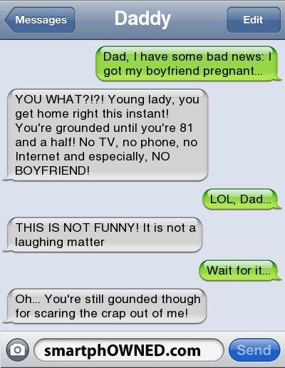 DaddyDad, I Have Some Bad News: I Got My