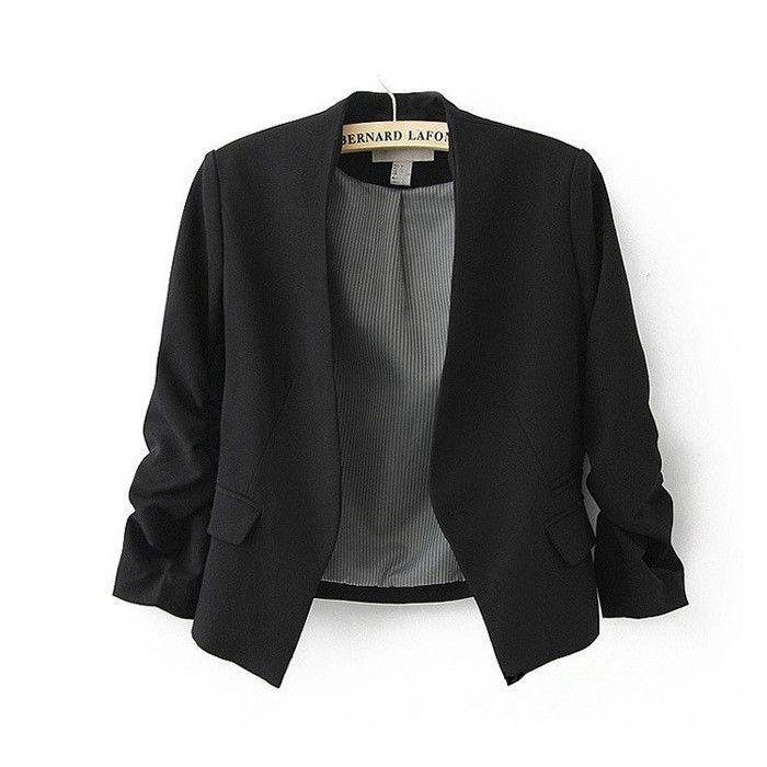 para mujer chaquetas cortas ropa de abrigo traje solid blazer jacket suit capa