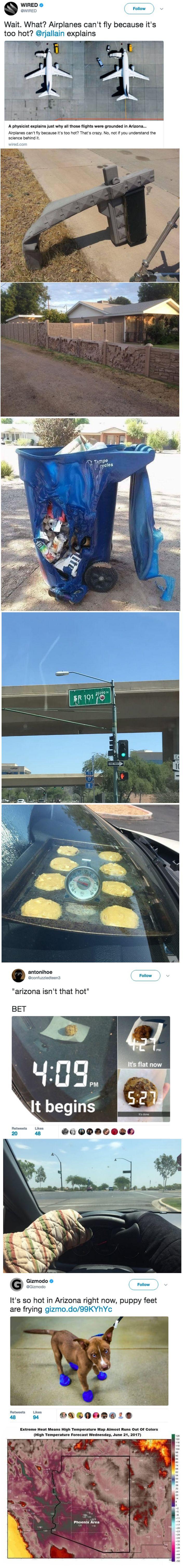 """Arizona isn't that hot."""