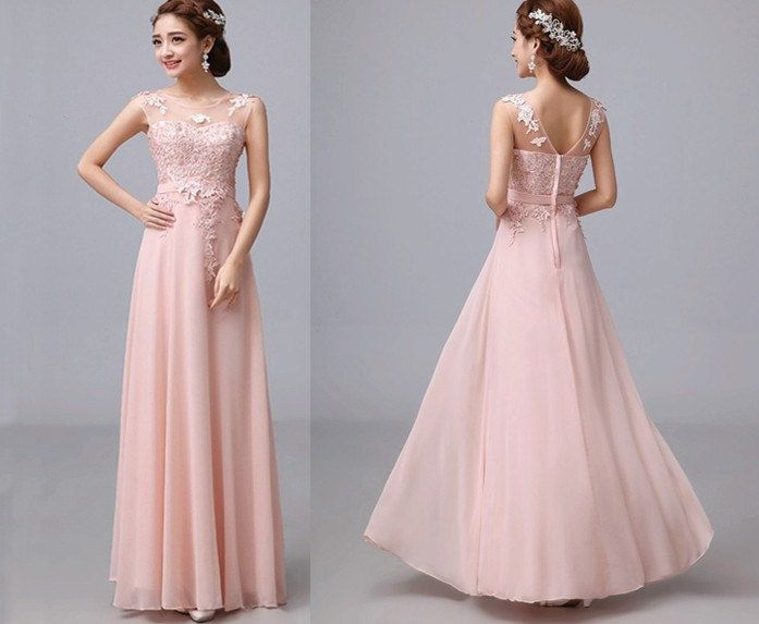 lace prom dress blush prom dress long prom dresses by sofitdress, $179.00
