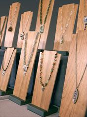 Rebecca Chandler of Sweet Grass Jewelry. Nice.  The stand part would also work with clip boards.