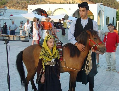 """Visit Greece   Skyros. The famous local horses, the Skyrian ponies (their height does not exceed 1.10 meters). They are descended from the famous """"Pikermi hipparion"""" (Hipparion mediteraneum) dated to the Paleolithic age; the modern breeds are found also in the Shetland Isles. #Skyros #sporades #Greece #greekphotos"""