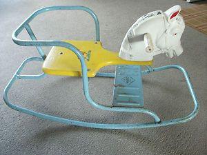 vintage 1950s childs rocking chair horse Mario Toy British Made | eBay