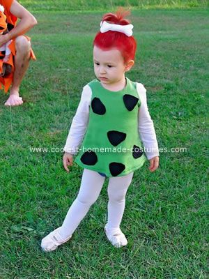 Coolest Homemade Flintstones Family Costume 30