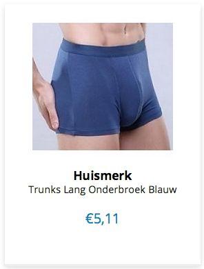 Trunks Lange Onderbroek Blauw www.ovstore.nl/nl/nieuw/nieuwste-producten
