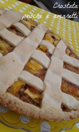 Crostata pesche e amaretti