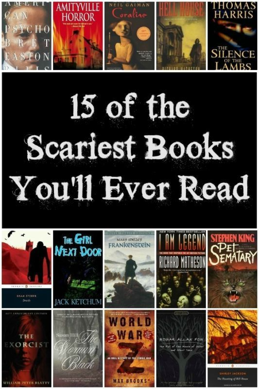 15 of the scariest books you'll ever read