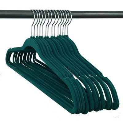 Rebrilliant Velvet Non-Slip Hanger Color: Teal