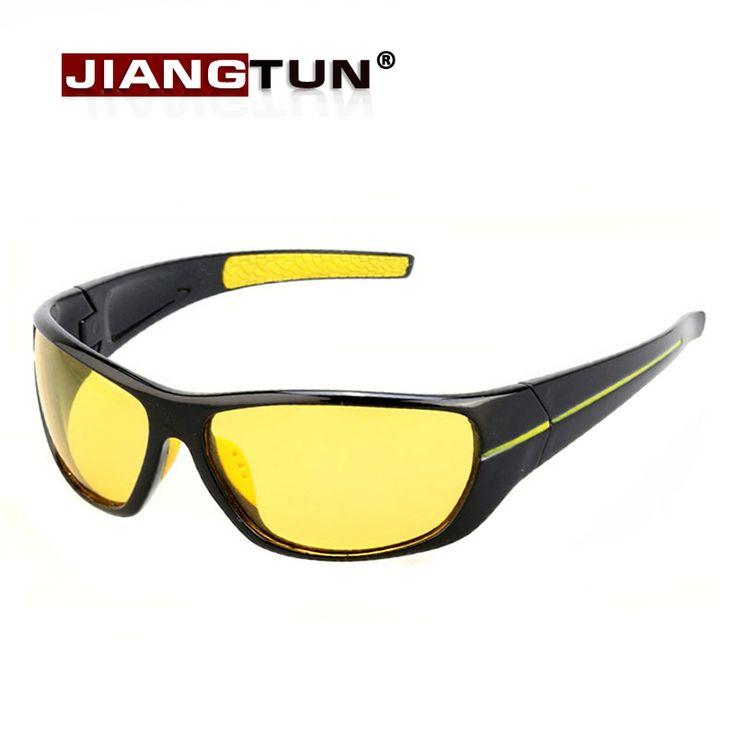 Jiangtun new nachtzicht zonnebril mannen merk designer fashion gepolariseerde night driving verbeterde licht op regenachtige bewolkt fog dag