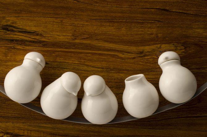 pájaros en el alambre - arta ceramica