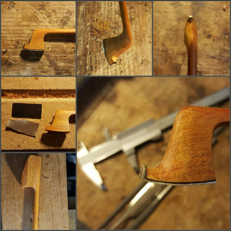 The process of making a violin bow head