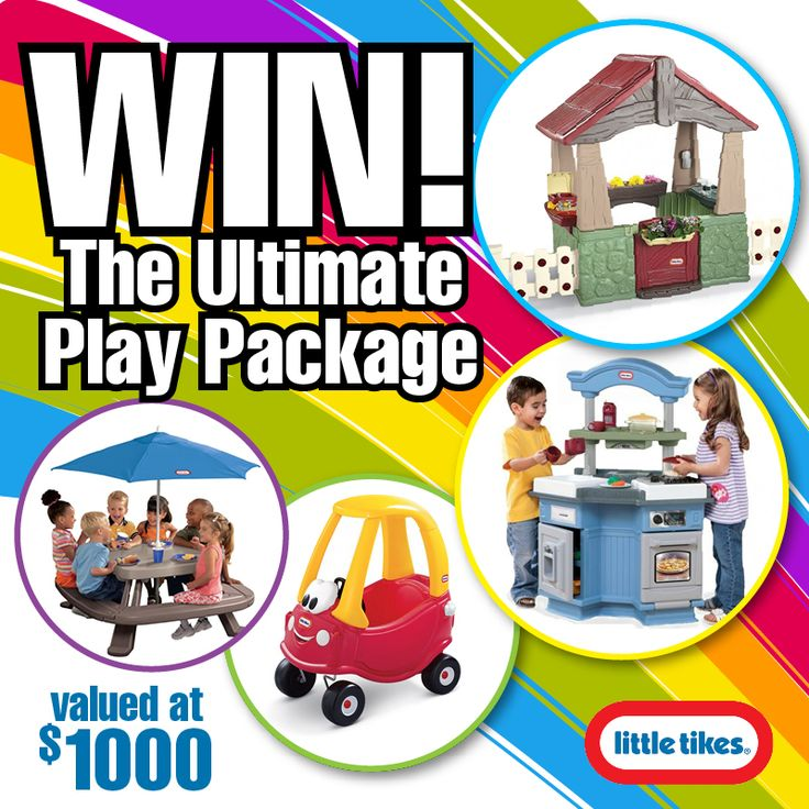 WIN $1000 worth of stunning Little Tikes Play gear!! Enter here: http://bit.ly/Ultimate-Play-Package