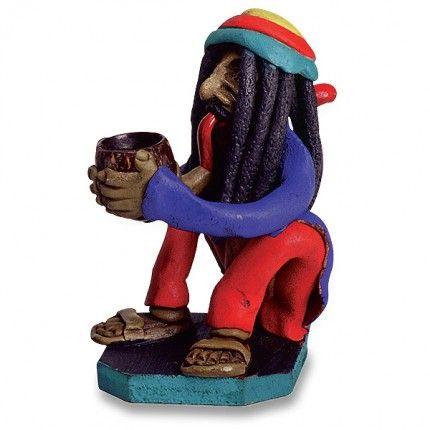 Sitting Rasta Man Brazil Pipe -  http://thestateofweed.com/sitting-rasta-man-brazil-pipe/