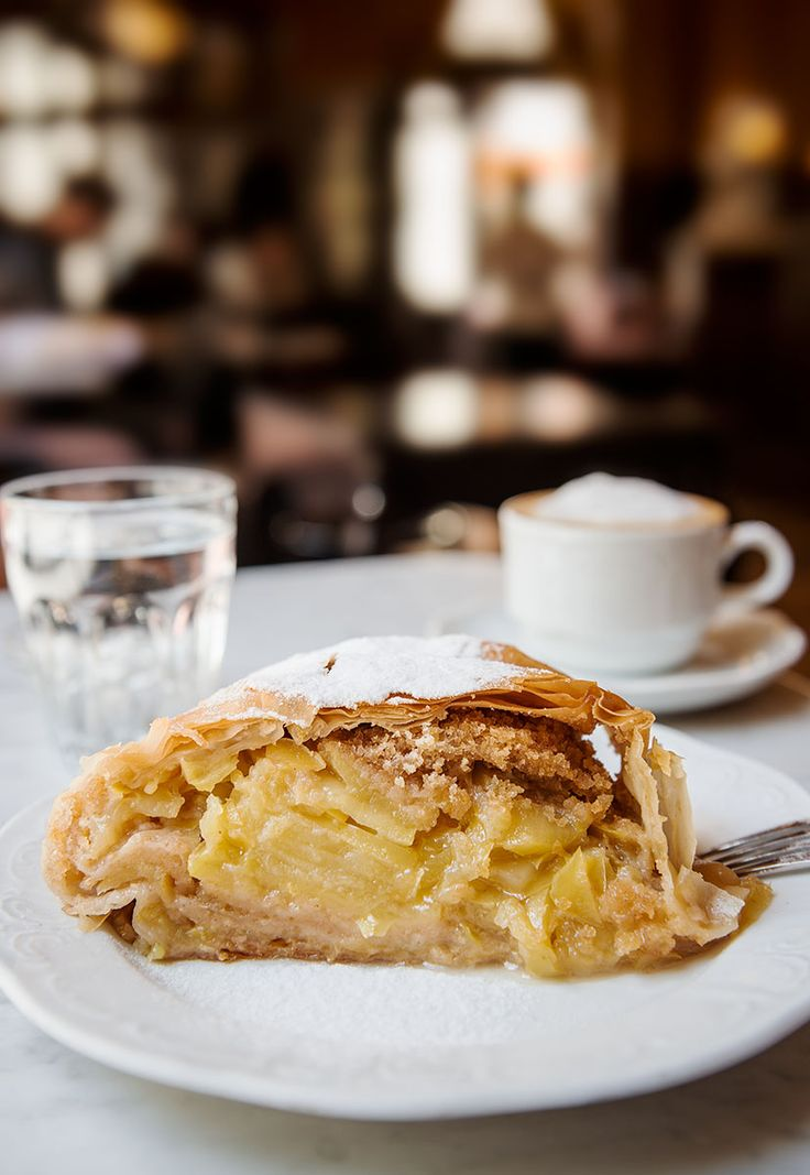 Indulge in the most delectable apple strudel at Cafe Sperl in Budapest.