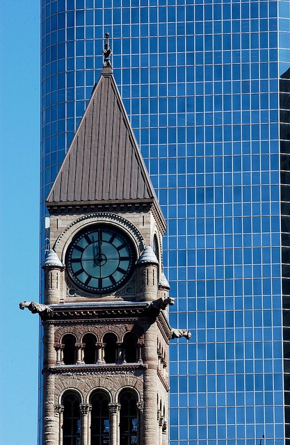 Old City Hall,   Clock  Tower, Toronto Downtown, Ontario, Canada
