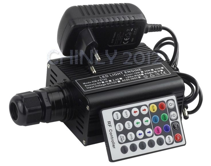 37.55$  Watch more here - 2016 NEW RGBW 16W LED Fiber Optic Engine Driver with 28key RF Remote controller for all kinds fiber optics   #buymethat