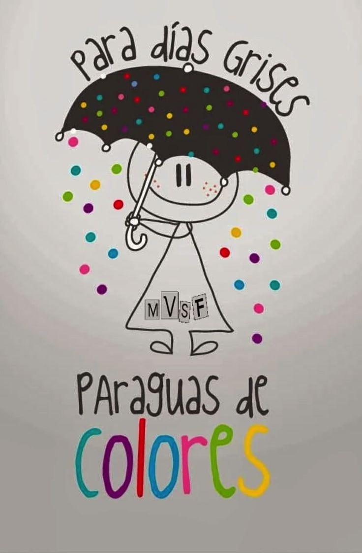 Para días grises… paraguas de colores!!