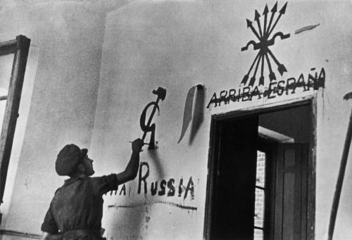 by Gerda Taro Republican soldier, Brunete, Spain, July 1937.