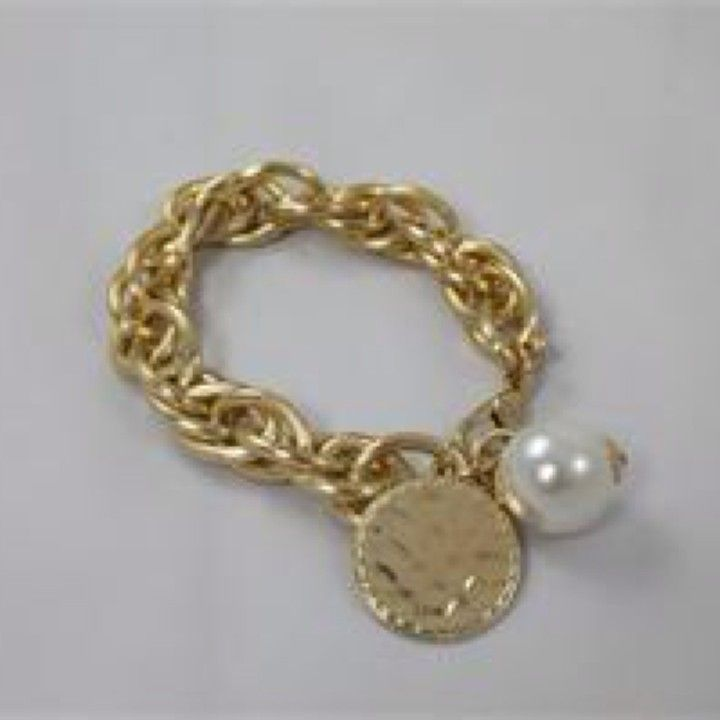 NB0805GD V. Lu Gold  Charm Bracelet from Turn Her Style, LLC for $36 on Square Market