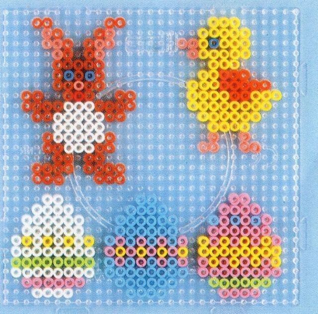 Easter hama perler pattern