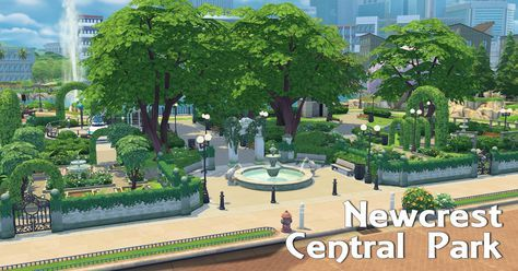 A Sims 4 Blog — Newcrest Park No CC, Maxis only I have all