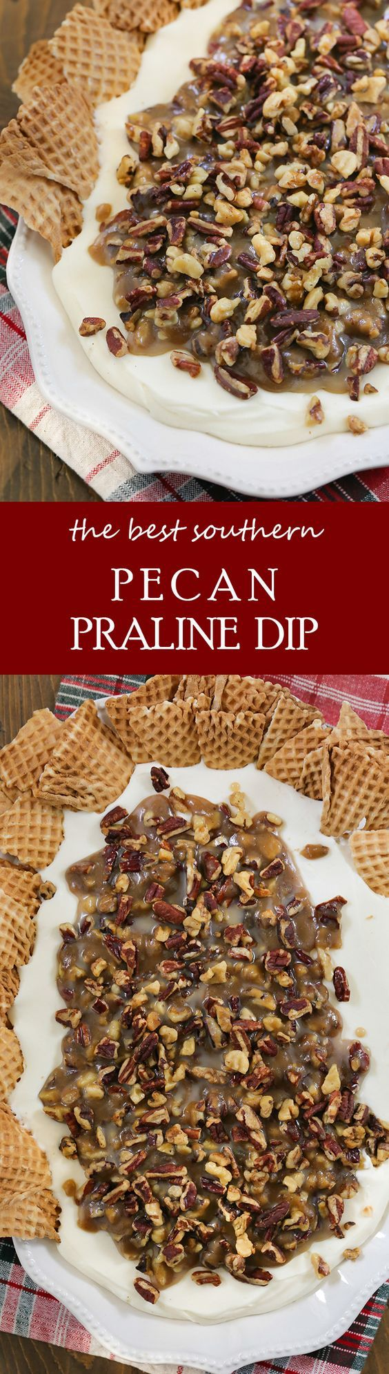 The best southern Pecan Praline Dip! Serve this for a fall dessert your guests will love!