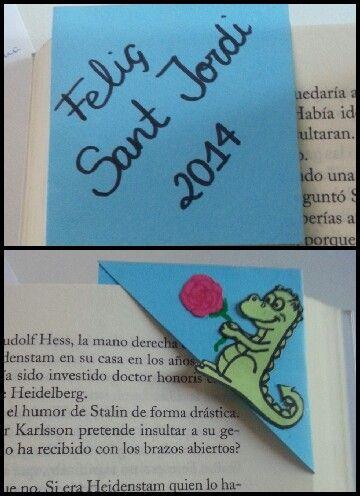 Punt de llibre drac-rosa