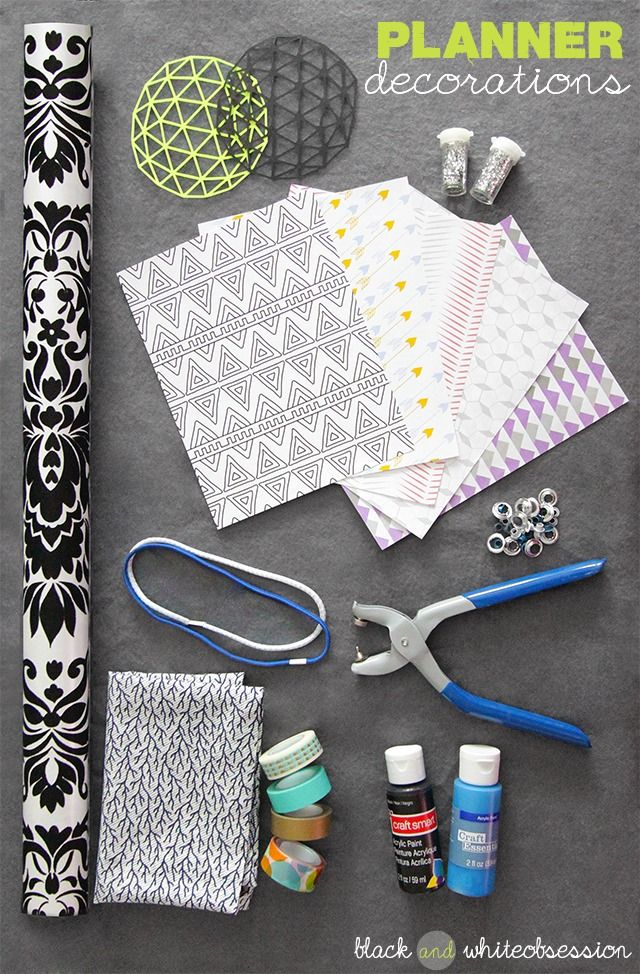 Black and White Obsession | Organize your DIY Planner. How to make Covers, Tabs & Dividers using Food Boxes (like Cereal boxes, Pizza boxes, TV Dinners etc.) | Additional ways to make your planner 'you.'