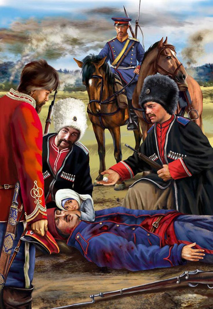 A dying cossack in Manchuria, Russo-Japanese War