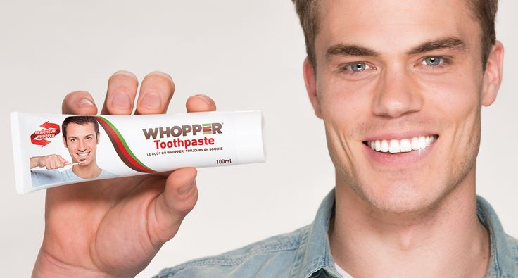 Burger King crée un dentifrice saveur Whopper !! #Inspiration