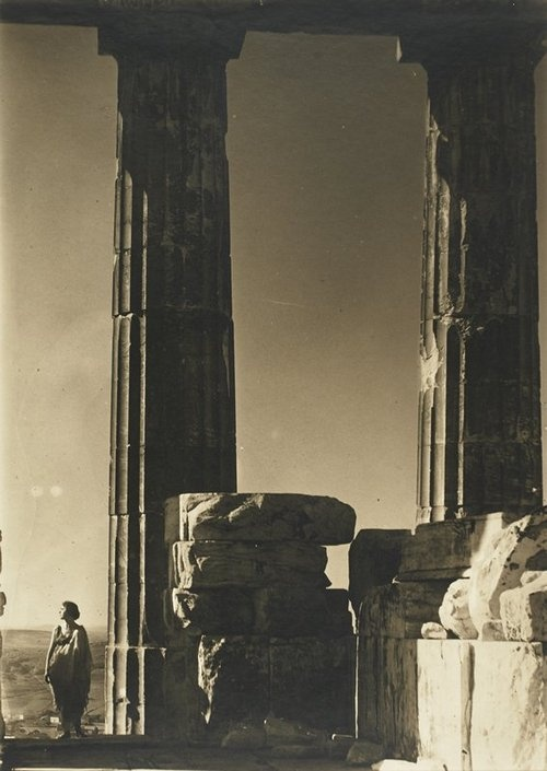 Isadora Duncan at the Parthenon, 1921, Edward Steichen.