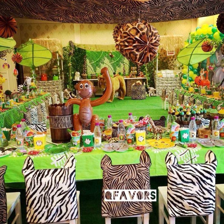 Jungle Safari Birthday Party Ideas   Photo 8 of 41