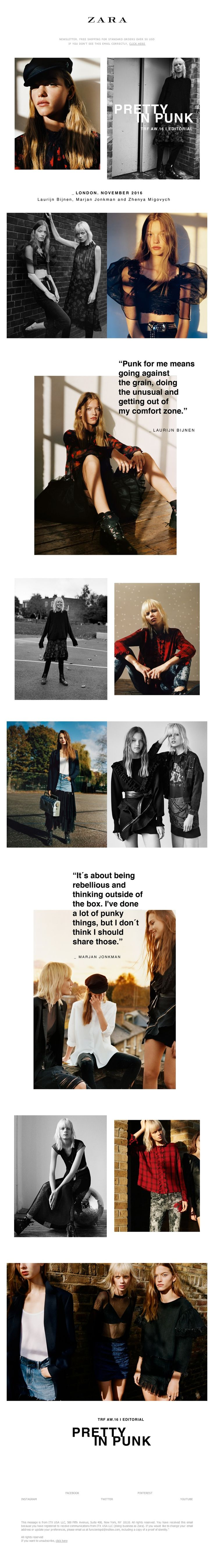 ZARA - PRETTY IN PUNK | New TRF editorial