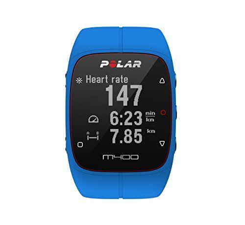 Polar M400 Montre Cardio/GPS Multisport sans Ceinture Cardiaque Bleu: Ecran haute définition 128 x 128 Tracking de l'activité 24/7, pas,…
