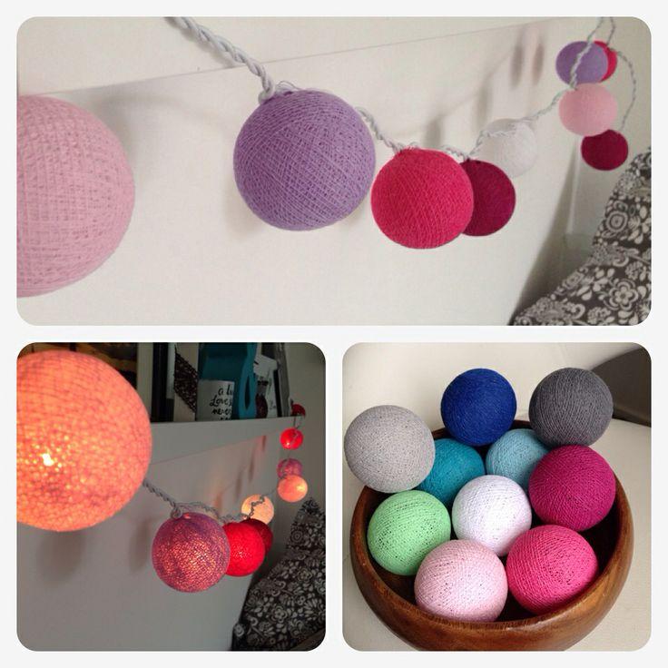 Cottonballs Lichterketten Stimmungslicht