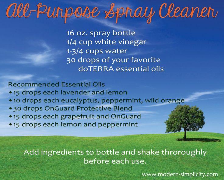 All-purpose cleaner with doTERRA essential oils: www.mydoterra.com/amandadavies1