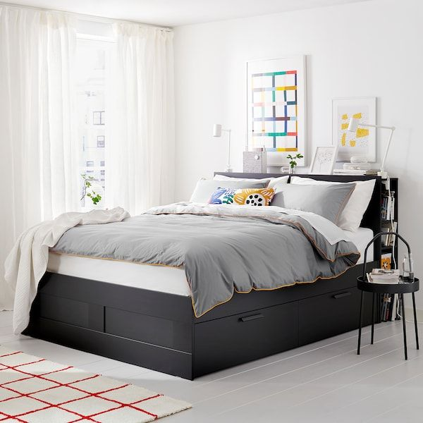 Brimnes Bed Frame With Storage Headboard Black Leirsund Queen Ikea Bed Frame With Storage Headboard Storage Brimnes Bed