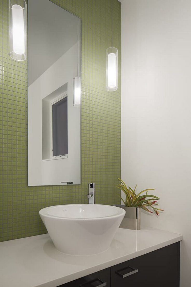 27 best powder room images on pinterest powder rooms for Lime green bathroom ideas pictures