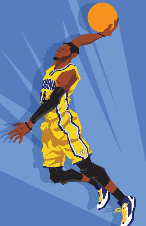 Paul George On The Come Up Caricature Art Nba Players And Logos